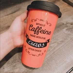 Other - Cute Pink Coffee Travel Mug Tumbler